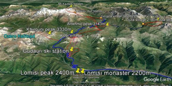Caucase central Gudauri Kasbek