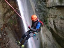 Canyoning rappel