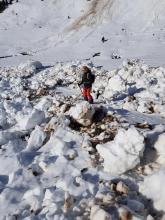 avalanche de neige lourde.col de la Colombière