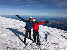 Sébastien et Grégory au sommet du Mont Blanc