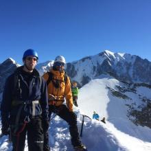 Au sommet du Dôme Central (3633 m)