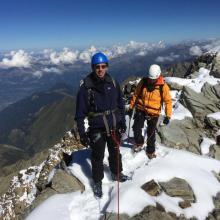 Au sommet de l'Aiguille de la Bérangère (3425 m)