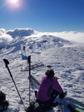 drapeaux de givre sur les monts Jura