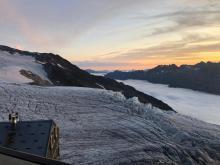 Le glacier du Tour depuis le refuge Albert 1er