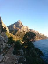 Départ de Pedra Longa. Punta Girardili